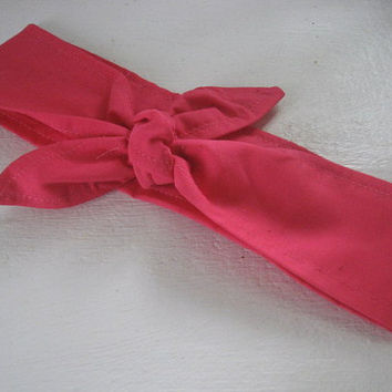 Hair Bandana, Hot Pink, Hair Band, Sweet Headband, RockaBilly HairBand, Boho Hair Band, Hair Trend, Boho, Women and Teens