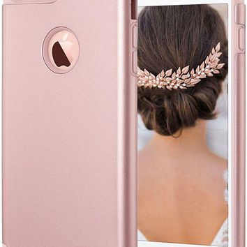 DCCK2JE iPhone 7 Plus case, iPhone 7 Plus Cases Pink, ULAK Slim Heavy Duty Cases Dual Layer Shock-Absorption Hybrid TPU Bumper Hard PC Protective Cover for Apple iPhone 7 Plus-Rose Gold