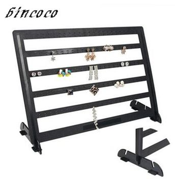 bincoco jewelry display rack 240 holder stand for earring black ABS holders for jewelry organizer frame Earring rack storage