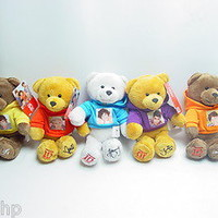 "New 1D One Direction Set Of 5 Plush Teddy Bear 9"" Louis, Niall, Harry, Liam,Zayn"