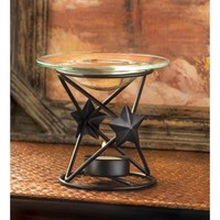 Decorative Lone Star Tealight Oil Warmer