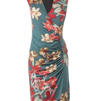Phase Eight Orchid print dress Turquoise - House of Fraser