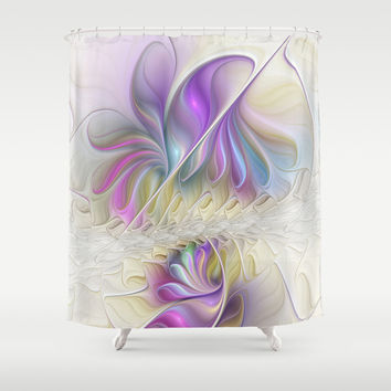 Find You, Abstract Fractals Art Shower Curtain by Gabiw Art
