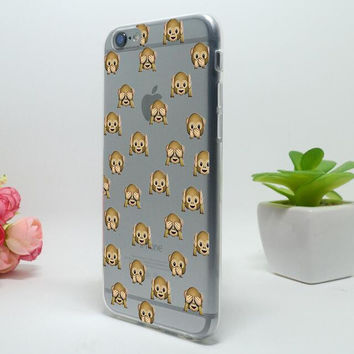 Original Cute Monkey iPhone 5c 5se 5s 6 6s Plus Case Cover + Free Gift Box