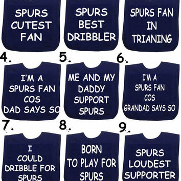 2 x bibs Liverpool Manchester Utd  Spurs  Chelsea Football bib any slogan or DESIGN YOUR OWN