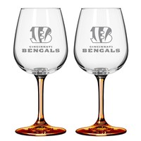 Cincinnati Bengals 2-pc. Wine Glass Set (Bng Team)