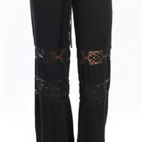 Michelle Jonas Long Hippie Pants in Black