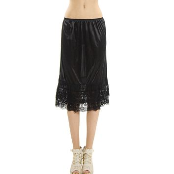Melody extra length double lace skirt extender / half slip