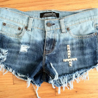 Distressed and bleached