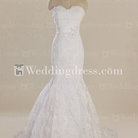 Vintage Fit-n-Flare Lace Wedding Gown