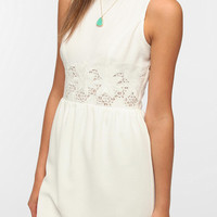 Urban Outfitters - Pins And Needles Crepe Lace Waist Dress