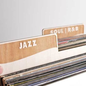 Vinyl Record Dividers // Genre Set of 6 (block font)
