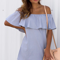 Yisa Ruffle Off Shoulder Dress -