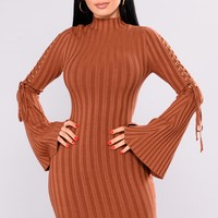 Next To Me Knit Dress - Rust