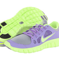 Nike Kids Free 5.0 (Big Kid) Wolf Grey/Volt Ice/Violet - 6pm.com