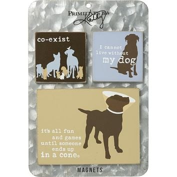 Co-Exist Cannot Live Without Dog Magnet Set