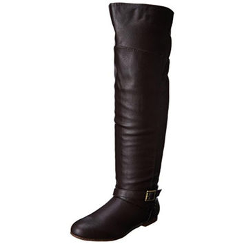 Dolce by Mojo Moxy Womens Deacon Faux Leather Slouchy Knee-High Boots