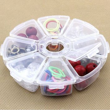 Hot Sale New Clear Plastic Jewelry Bead Storage Box Container Organizer Case Craft Tool