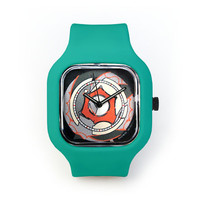 Boombox Vortex Watch in a Turquoise Strap