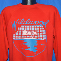 80s Wildwood NJ Sunset Crewneck Sweatshirt Medium