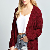 Chelsey Chunky Pointelle Cardigan