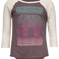 O'neill Bellephant Girls Baseball Tee Charcoal  In Sizes