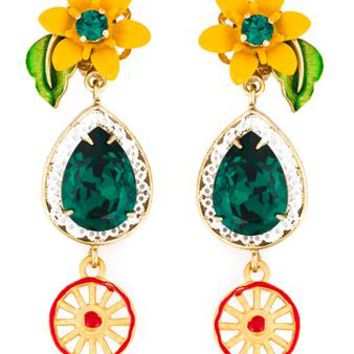 DOLCE & GABBANA   Crystal Clip-On Earrings   brownsfashion.com   The Finest Edit of Luxury Fashion   Clothes, Shoes, Bags and Accessories for Men & Women