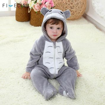 Cool Totoro Cosplay Costume Baby Kigurumi Onesuit Anime Gray Funny Cute Cat Pajama Infant Children Kid Soft Sleeping Suit Party FancyAT_93_12