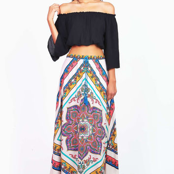 Kaleidoscope Boheme Maxi Skirt - Tall