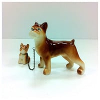 Dog and Puppy Figurines 1950s by vintage19something on Etsy