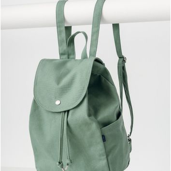 Olive Drawstring Backpack