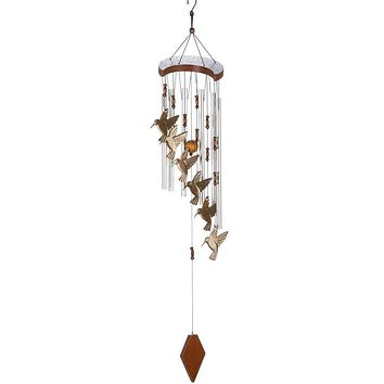Aluminum Hummingbird Wind Chimes