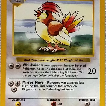 SHADOWLESS PIDGEOTTO 22/102 RARE, Pokemon Base Set. TOUGH FIND LIKE THIS!