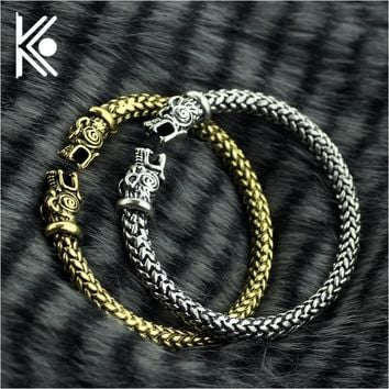 The vikings Wolf Bracelets For Women Fashion Male Accessories Viking Bracelet Men Wristband Cuff Bracelets Bangles Teen Wolf