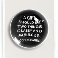 A Girl Should Be Two Things French Crystal Dome Paperweight