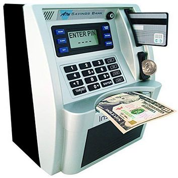 Kids Educational Learning Counting Real Money ATM Machine  Savings Bank w ATM Card