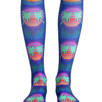 L.A. Paradise Night Knee High Socks