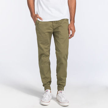 Levi's Mens Chino Jogger Pants Olive  In Sizes