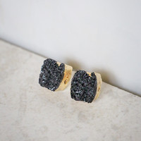 Small Rock Candy Earrings in Gold