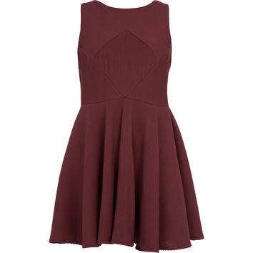 Red Ribbed Dress - Women's Plus Size - Edits - TK Maxx