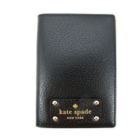 Kate Spade Wellesley Sweater Black Leather Passport Holder Case