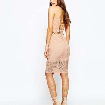 Love Triangle Lace Midi Skirt