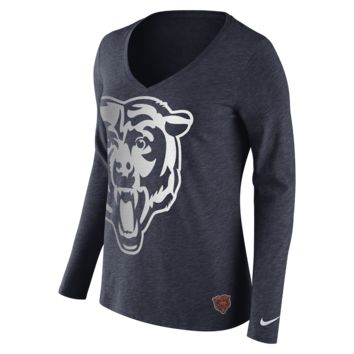 Nike Tri-Blend Logo Wrap (NFL Bears) Women's Shirt
