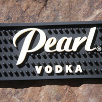 "Pearl Vodka Black Bar Drink Spill Mat, 24"" Barware"