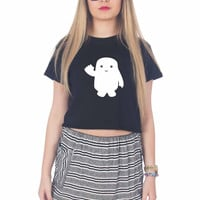 Baby Fat Adipose Doctor Who inspired white For Womens Crop Shirt ***