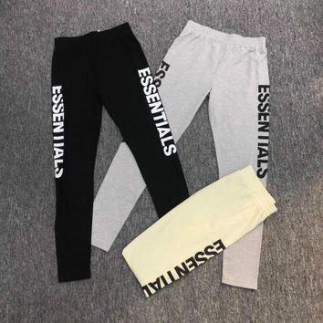 2018 men women fashion long pants hip hop fear of god kanye west streetwear Essentials Letter harajuku essleggings pants