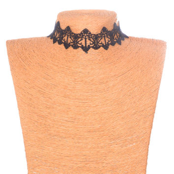 Shiny Gift Jewelry New Arrival forever21 choker Stylish Lace Crochet Gemstone Black Korean Necklace [7786529543]