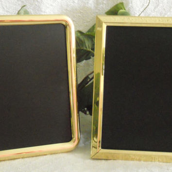 Set of two small gold framed chalkboards, framed chalkboards, gold framed chalk boards, Framed chalk board set, Photo props, wedding decor