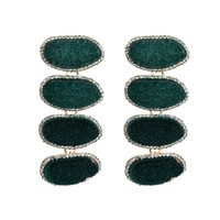 Sparkle Statement Earrings - Green