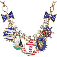 Betsey Johnson Ivy League Anchor Charm Necklace